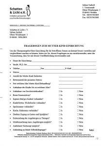 Fragebogen Kliniken